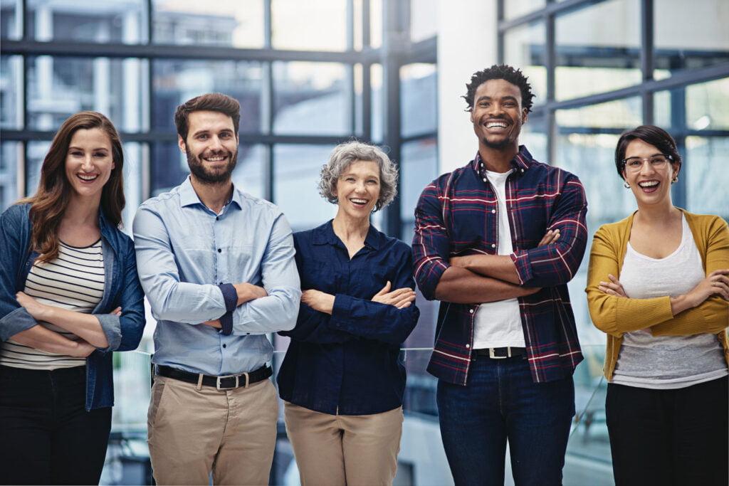 Gruppebilde av ansatte